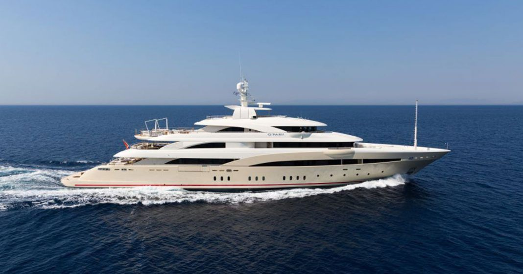 O'PARI 3 luxury mega yacht for charter Greece