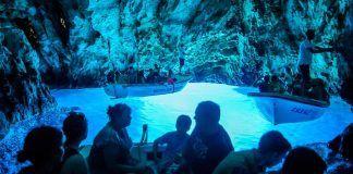 Blue Cave on island of Bisevo near island of Vis