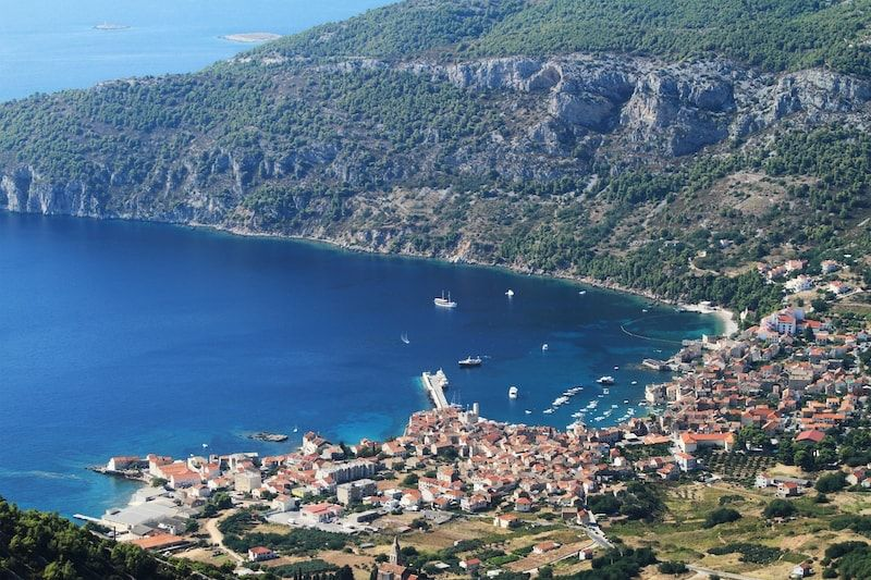 Town Komiza on island of Vis