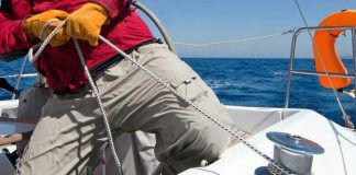 What gear to have when chartering bareboat sailing yacht?