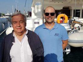 António Guterres, United Nations Secretary-General Chartered a catamaran in Croatia